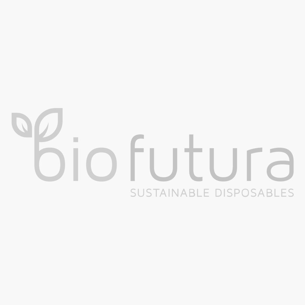 BioWare Deckel flach mit Strohhalmloch für 250ml (78mm) - Packung 100 Stk